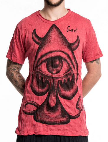 Sure Design Men's Spades Eye T-Shirt Red