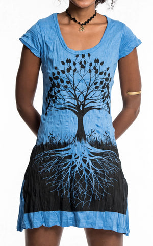 Sure Design Women's Tree of Life Dress Blue