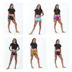 Assorted set of 10 Cotton Tie Dye Women Shorts
