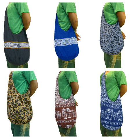 Assorted set of 10 Thai Hand Made Embroidered Shoulder Bags