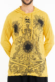 Wholesale Sure Design Unisex Sunflower Skull Hoodie Yellow - $12.00