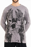 Wholesale Sure Design Unisex Happy Dog Long Sleeve Shirt Gray - $10.00