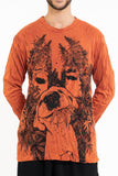 Wholesale Sure Design Unisex Happy Dog Long Sleeve Shirt Orange - $10.00