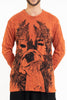Sure Design Unisex Happy Dog Long Sleeve Shirt Orange
