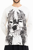 Wholesale Sure Design Unisex Happy Dog Long Sleeve Shirt White - $10.00
