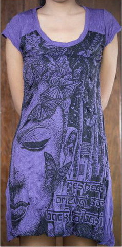 Sure Design Women's Butterfly Buddha Dress Purple