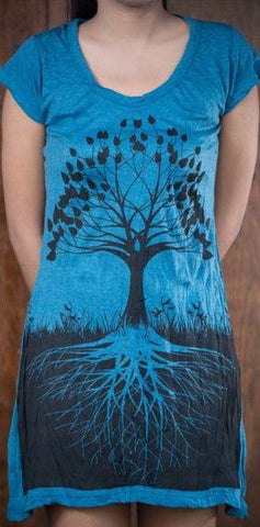 Sure Design Women's Tree of Life Dress Denim Blue