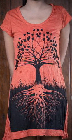 Sure Design Women's Tree of Life Dress Orange