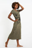 Wholesale Sure Design Womens Octopus V Neck Tee Dress Green - $10.00