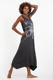 Wholesale Sure Design Womens Octopus Long Tank Dress in Silver on Black - $9.00