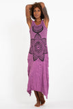 Wholesale Sure Design Womens Sacred Geometry Mandala Long Tank Dress in Pink - $9.00