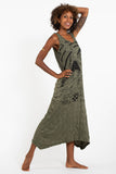 Wholesale Sure Design Womens Magic Mushroom Long Tank Dress in Green - $9.00