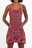 Wholesale Sure Design Women's Tribal Masks Tank Dress Red - $9.00
