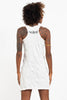 Sure Design Women's Tribal Masks Tank Dress White