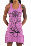 Wholesale Sure Design Women's Lord Ganesh Tank Dress Pink - $9.00