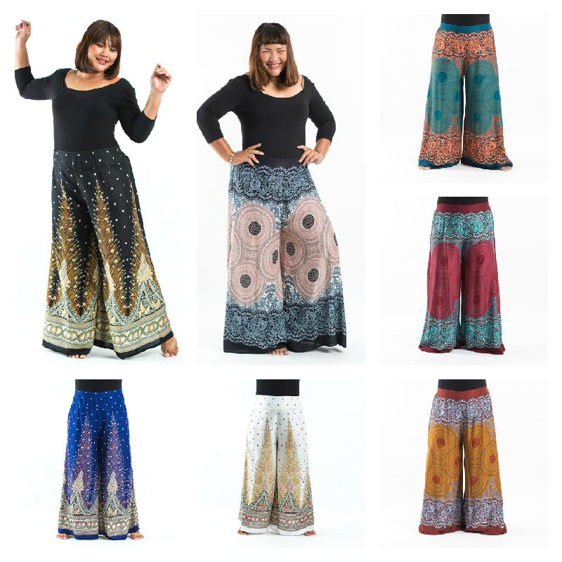 Wholesale Assorted set of 10 Plus Size Palazzo Style Harem Pants