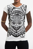 Wholesale Sure Design Women's All Seeing Owl T-Shirt White - $8.00