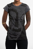 Wholesale Sure Design Women's Big Buddha Face T-Shirt Black - $8.00