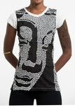 Wholesale Sure Design Women's Big Buddha Face T-Shirt White - $8.00