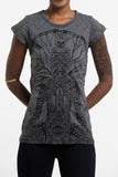 Wholesale Sure Design Women's Hamsa Meditation T-Shirt Black - $8.00
