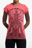 Wholesale Sure Design Women's Hamsa Meditation T-Shirt Red - $8.00