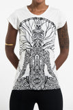 Wholesale Sure Design Women's Hamsa Meditation T-Shirt White - $8.00