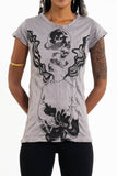 Wholesale Sure Design Women's Space Man T-Shirt Gray - $8.00