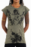 Wholesale Sure Design Women's Space Man T-Shirt Green - $8.00