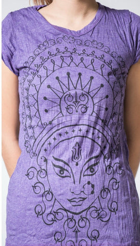 Sure Design Women's Durga Kali T-Shirt Purple
