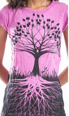 Sure Design Women's Tree of Life T-Shirt Pink
