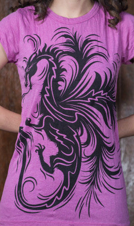 Sure Design Women's The Dragon T-Shirt Pink
