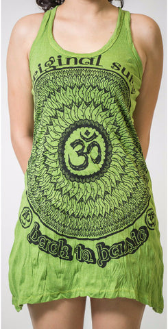 Sure Design Women's Flower Ohm Tank Dress Lime