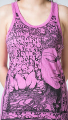 Sure Design Women's Sanskrit Buddha Tank Top Pink