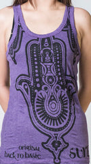 Sure Design Women's Three Hands Tank Top Purple