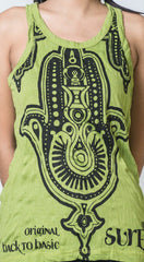 Sure Design Women's Three Hands Tank Top Lime