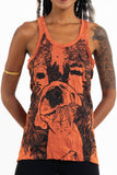 Wholesale Sure Design Women's Happy Dog Tank Top Orange - $8.00