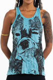 Wholesale Sure Design Women's Happy Dog Tank Top Turquoise - $8.00