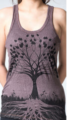 Sure Design Women's Tree of Life Tank Top Brown