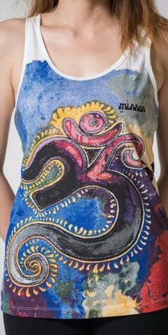 Mirror Sure Design Women's Om Tank Top White