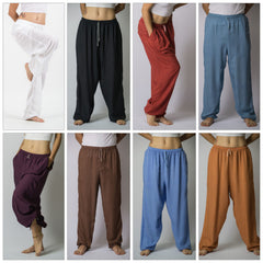 Assorted set of 5 Unisex Solid Color Drawstring Yoga Massage Pants BESTSELLER