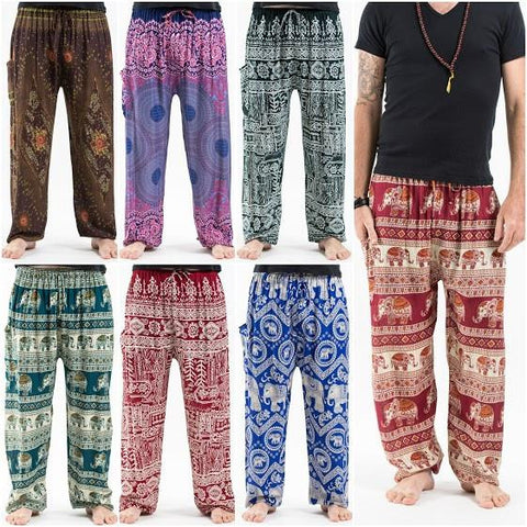 Assorted set of 5 Thai Drawstring High Crotch Harem Pants BEST SELLER