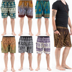 Assorted Set of 10 Men's Thai Drawstring Shorts BEST SELLER