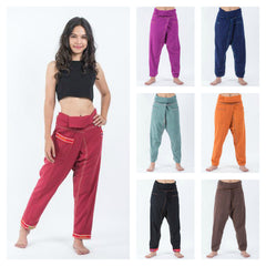 Assorted set of 5 Hand Embroidered Women's Slim Cut Fisherman Pants