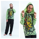 Wholesale Sure Design Unisex Sun and Moon Hoodie Green - $10.50