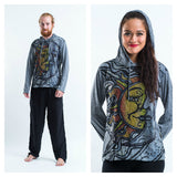 Wholesale Sure Design Unisex Sun and Moon Hoodie Gray - $10.50