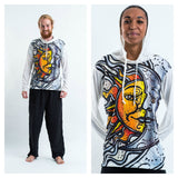 Wholesale Sure Design Unisex Sun and Moon Hoodie White - $10.50