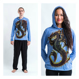 Wholesale Sure Design Unisex Dragon Hoodie Blue - $7.00