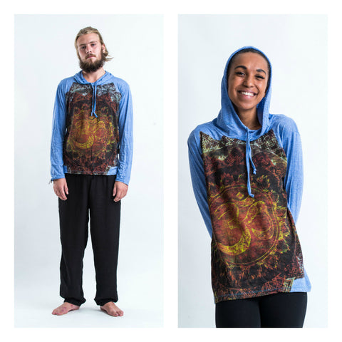Sure Design Unisex Ohm Fire Hoodie Blue