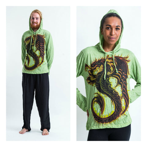 Sure Design Unisex Dragon Hoodie Green