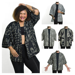 Assorted set of 10 Unisex Cotton Kimono Cardigan
